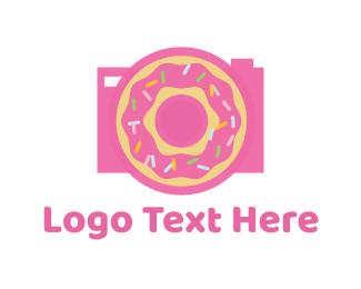 Donut - Donut Camera logo design