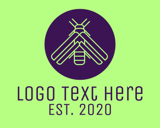 Insect - Minimalist Firefly Insect logo design