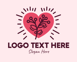 Dating Advice - Tree Branch Heart logo design