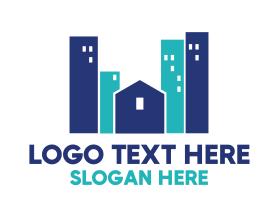 Town - Blue Town logo design