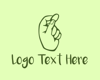 Coin - Green Coin Hand logo design