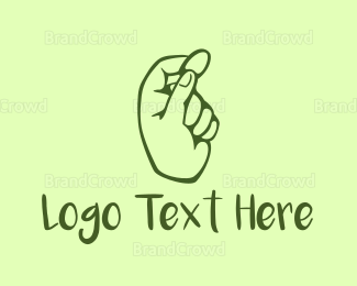 Cryptocurrency - Green Coin Hand logo design