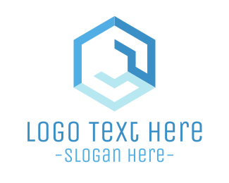 Hardware Store - Blue Hexagonal Wrench logo design