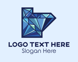 Rhinestone - Diamond Jewelry Letter L logo design