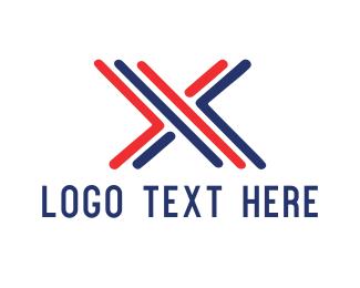 Letter X - X Bars logo design