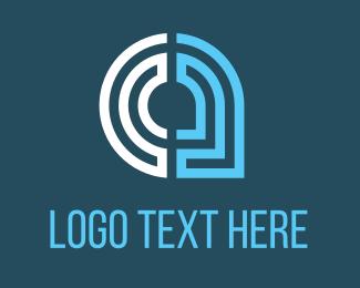 Ai - Maze Leaf logo design