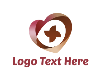 Volunteer - Abstract Heart  logo design