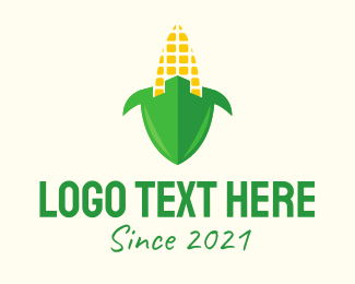 Fort - Corn Fort Shield logo design