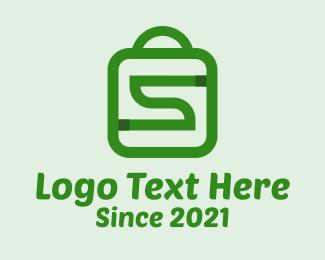 Shopping Bag Letter S  Logo