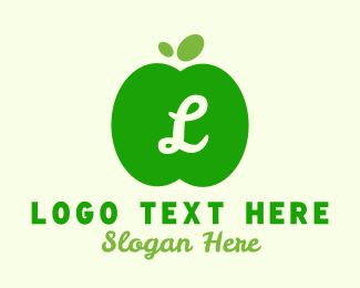 Confectionery - Simple Green Apple Lettermark logo design