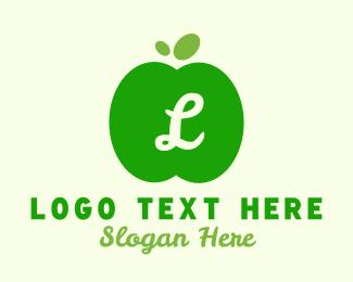 Simple - Simple Green Apple Lettermark logo design