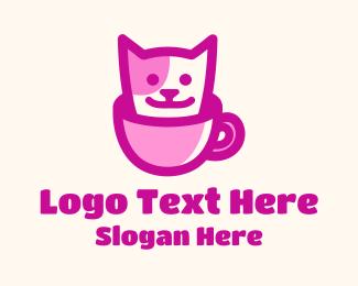 Cats - Pet Cat Cafe logo design