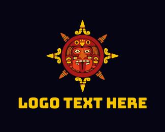 Art Gallery - Aztec Face logo design