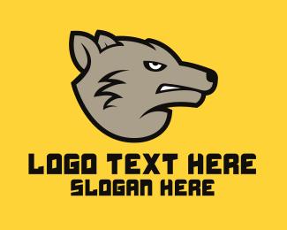 Grey - Angry Grey Wolf logo design