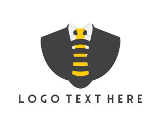 Suit - Bee Tie logo design
