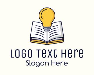 Review - Light Bulb Book logo design