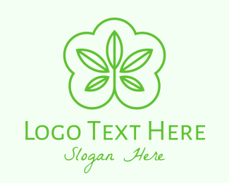 Nature Conservation - Green Organic Plant logo design