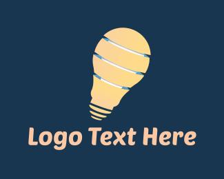 Flashlight - Light Bulb logo design
