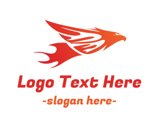 Hot Flying Bird Logo