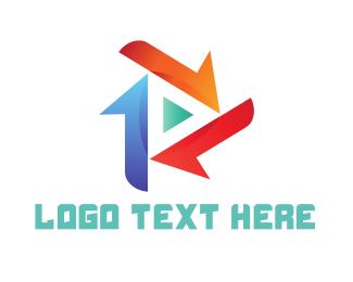 Multimedia - Triangle Media logo design