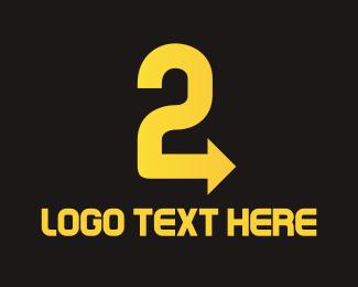 Number 2 - Arrow Number 2 logo design