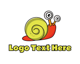 Mollusk - Yellow & Orange Snail  logo design