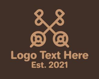 Key - Brown Antique Key logo design