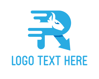 Pony - Animal Letter R logo design