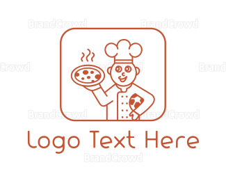 Italian Food - Pizza Chef logo design