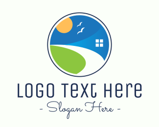 Residential - Round Residential Property Company logo design
