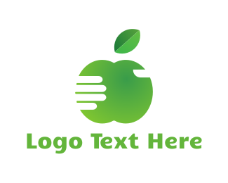Weight Loss - Green Apple logo design