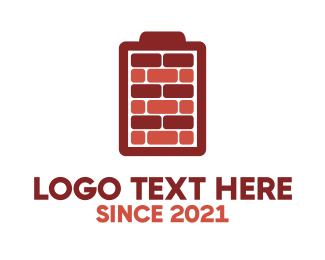 Carpentry - Battery Bricks logo design