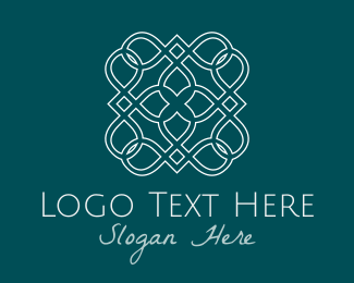 Ornamental - White Tile logo design