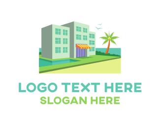 Hawaii - Waterfront Beach Resort  logo design