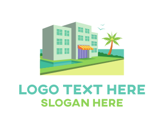 Perspective - Hotel Resort Beach Waterfront logo design
