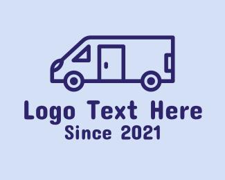 Trailer Camping - Travel Trailer Van  logo design