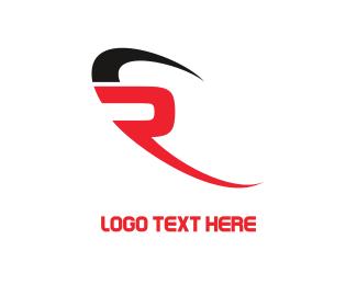 Car - Modern Letter R  logo design