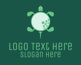 Tortoise - Golf Turtle  logo design