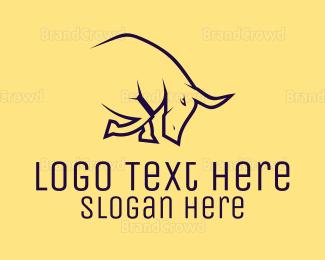 Cattle - Black Bull logo design
