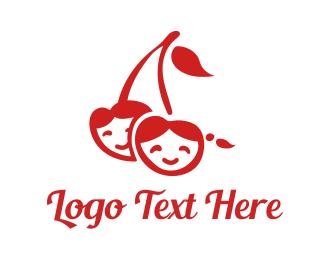 Berries - Cherry Children logo design