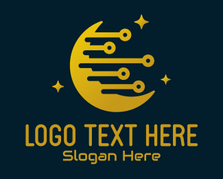 Webhosting - Electronic Moon Technology logo design