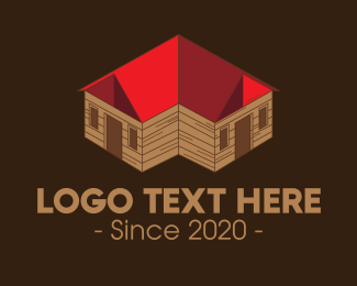Bungalow - Isometric House logo design