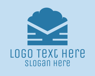 Envelope - Cloud Mail logo design