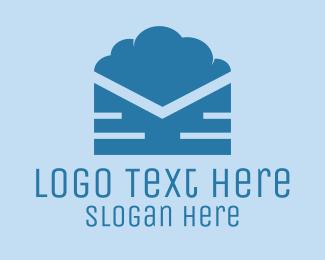 Mail - Blue Cloud Mail logo design