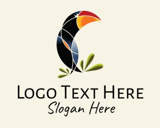 Animal - Rainforest Toucan Bird logo design