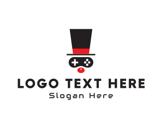 Top Hat - Game Clown logo design