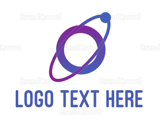 Blue And Purple - Purple Planet  logo design
