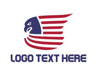 Ancestor - American Eagle Flag logo design