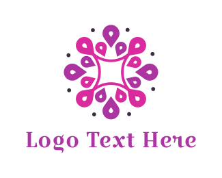 Purple And Pink - Purple Dahlia logo design
