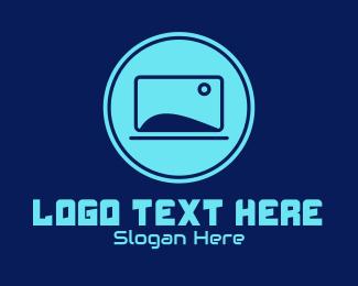 Info - Blue Laptop Gadget  logo design